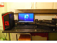 "Dell 545 Quad Core 2.33GHz, 4GB RAM, 500GB HDD, Power Color R7 260X, 20"" Monitor, Speakers,Printer.."