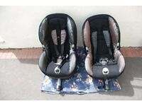 2 x Maxi- Cosi Priorifix Isofix Car Seats