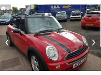 Mini One Red Convertible