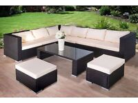 **FREE UK DELIVERY** OVER 40% OFF! Luxury Corner Rattan Garden Conservatory Furniture - BRAND NEW!