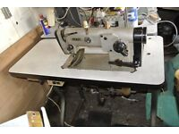 ZIG-ZAG PFAFF Industrial Sewing Machine( SEE 4 LAYERS OF LEATHER SAMPLE SEWN)