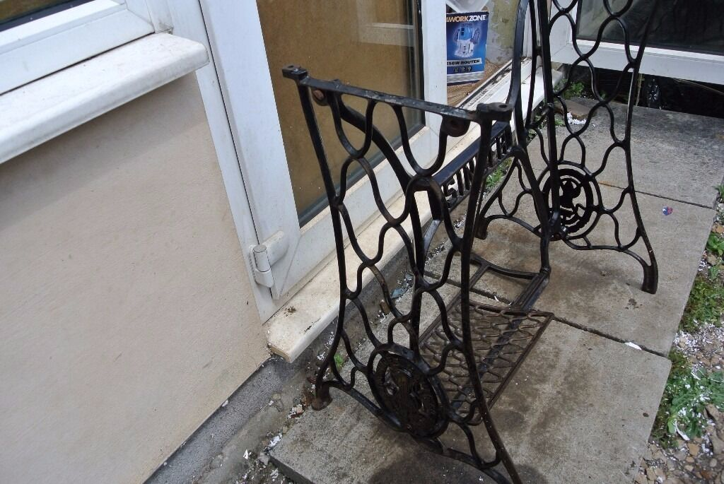 SINGER Sewing Machine Treadle Base Cast Iron Stand In Southmead Mesmerizing Sewing Machine Treadle Base