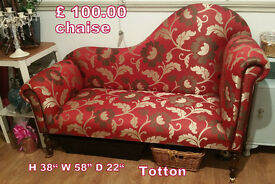 Gorgeous red chaise