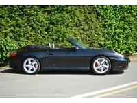 PORSCHE 911 CARRERA . 4S .CABRIO. TIPTRONIC. Met Black ..Includes private plate