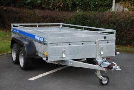 Heavy duty box trailer 10x5 twin axle 2700kg