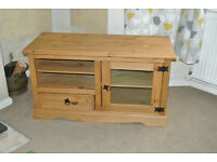TV unit cabinet stand in pine wood