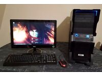 "Gaming Rig, AMD Phenom 9650 Quad, 4GB RAM, 500GB HDD, Nvidia GTS 250, 19"" LED Screen, Windows 10"