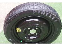 PIRELLI (T125-80 R 15 95 M) 4 Stud Spare Tyre 03 Focus