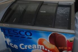 Tesco commercial chest ice cream freezer