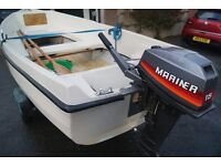 Orkney day boat with 15hp Mariner outboard and road trailer