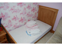 John Lewis Cot Bed and Accessories- Excellent Condition.