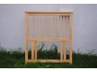 SINGLE PINE HEADBOARD - VERY GOOD QUALITY. NEW AND UNUSED. EXCELLENT CONDITION.