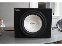 Mutant sub and kenwood Amp for car audio housed in box