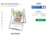 Fisher-Price 3 in 1 Rocker Swing