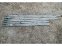 Six 2.75 inch Diameter Round Support Posts (Used)