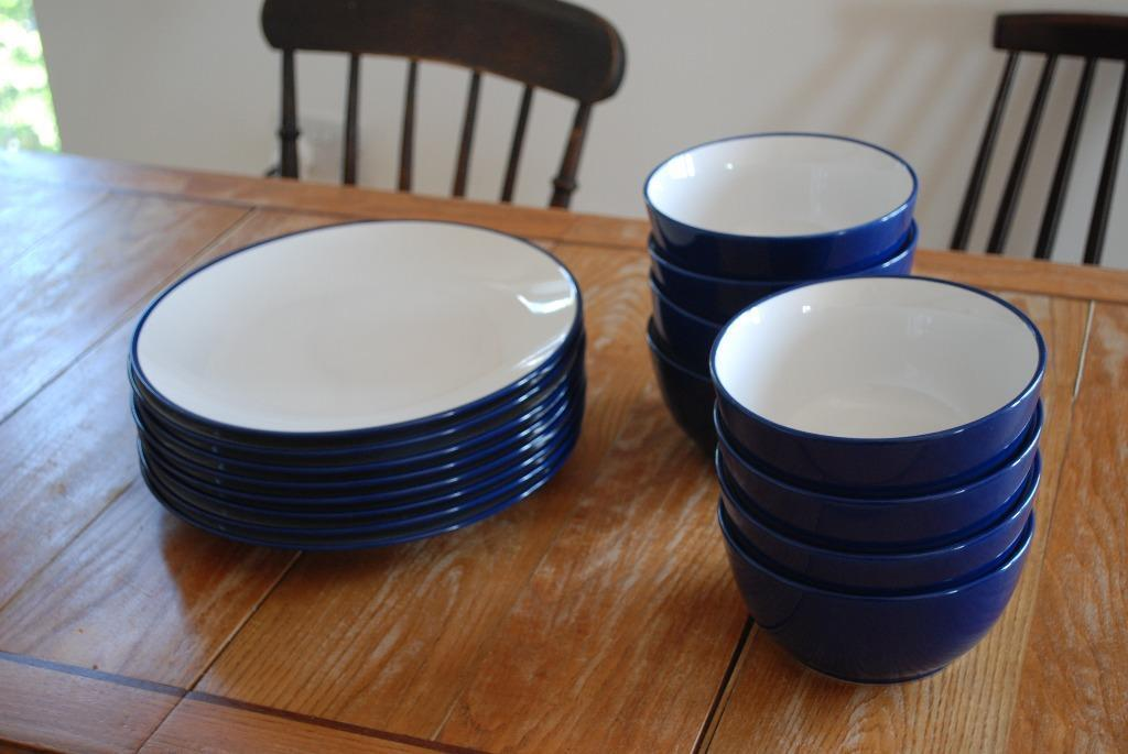 Set Of 8 X Blue And White Bowls And Plates From John Lewis & John Lewis Dinnerware - Castrophotos