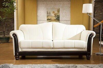 Kolonialstil Ledersofa Ledermöbel Ledersofas 3 Sitzer Ledercouch 278-3-W - Stil-leder-sofa
