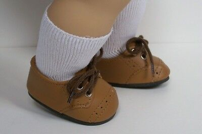 LT BROWN Boy Dress Up Doll Shoes For 15