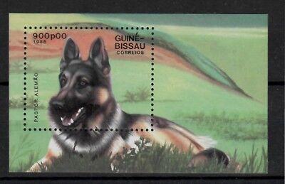 (W1240) GUINE-BISSAU, 1988, DOGS, BL. 273, MNH/UM, SEE SCAN