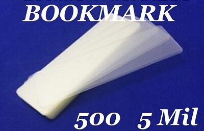 500 Bookmark Small 5 Mil Laminating Pouches Laminator Sleeves 2-18 X 6