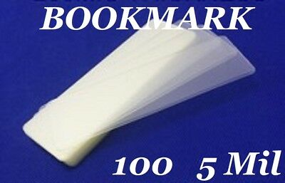 100 Bookmark Large 5 Mil Laminating Pouches Laminator Sleeves 2-38 X 8-12