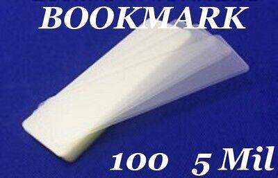 100 Bookmark Large 5 Mil Laminating Pouches Laminator Sleeves 2-38 X 8-12