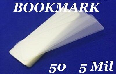 50 Bookmark Small 5 Mil Laminating Pouches Laminator Sleeves 2-18 X 6