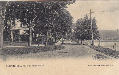 Tuck  2247  Clearfield  Pennsylvania  Pu 1909  The River Front