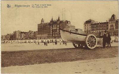 Blankenberge Blankenberghe La Plage à marée basse Het strand bij ebbe 1932