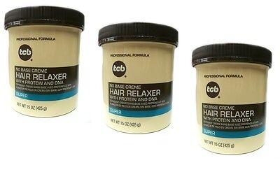 Base Creme Hair Relaxer (3x TCB Relaxer / Glättungscreme No Base Creme Hair Relaxer SUPER 425g)