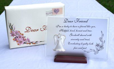 Dear Friend - Beautiful glass poem and gift for your best