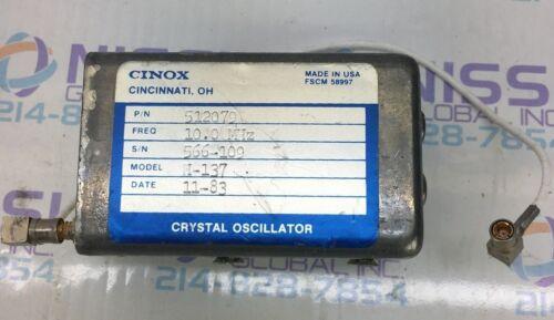 Cinox  H-137 Crystal Oscillator 10.0 MHz 512079