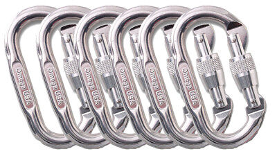 Omega Pacific Ovel Screw-Lok Carabiner Bright One Size