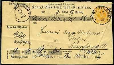 PA-Umschlag  Oehringen  Kupferzell  1890