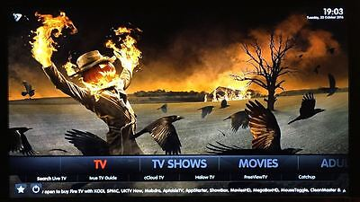 Amazon Fire TV Stick Jailbroken Voice 16.1 Fully Loaded! Movies XXX Quad Core!!
