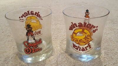 Rare Set of 2 Collectable Whalers Wharf/Smugglers Inn Printed Glasses-Toronto
