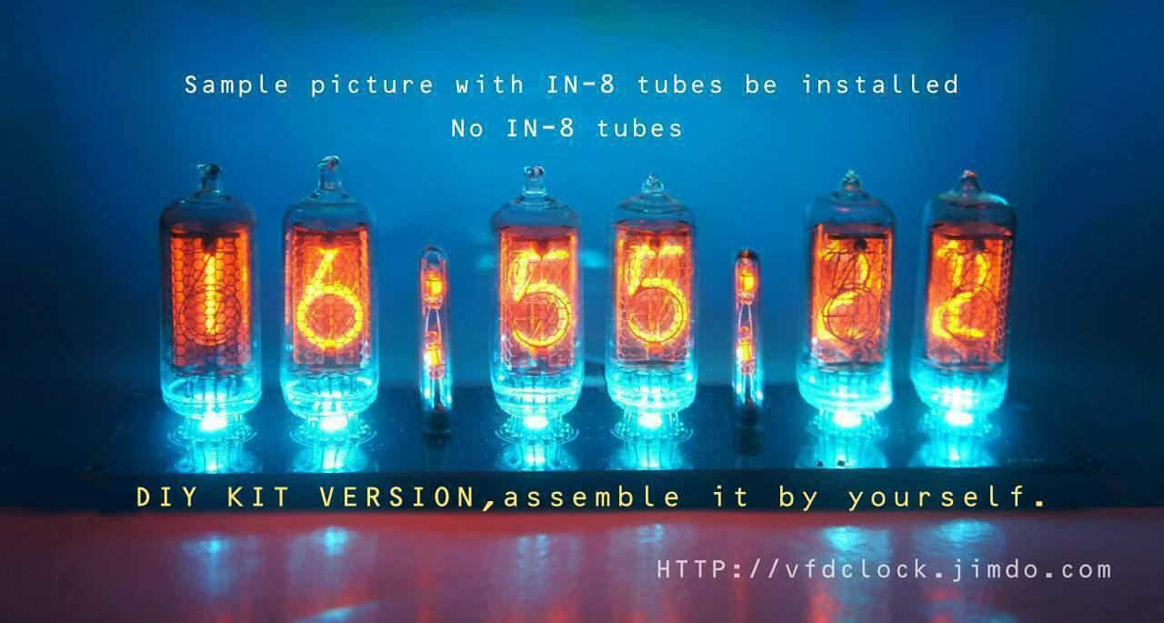 DIY KIT-[*NoTube*]Plug-IN-14/IN-8 6-tube NIXIE Clock PCB-NoEnclosure-GPS option