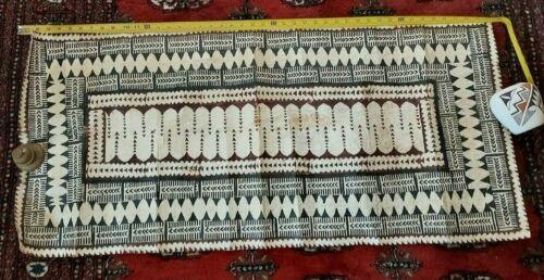 Vintage South Pacific Geometric Tapa Cloth Tonga Fiji Native Art BIN OBO FS