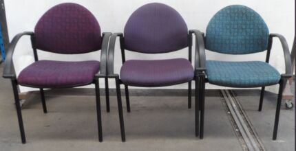 Some Mixed Colour Fabric Chairs