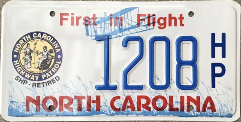 2015 North Carolina Police Highway Patrol SHP Retired License Plate RARE!!