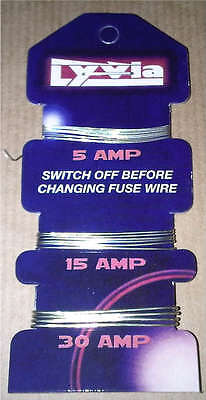 Consumer Fuse Wire Card of  5A 15A 30A FUSEWIRE for Fuse Boxes