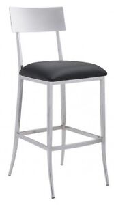 BLACK & WHITE LEATHERETTE DINING CHAIR COUNTER STOOL BAR STOOL Peterborough Peterborough Area image 1