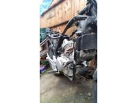 HONDA VARADERO 125 ROLLING CHASSIS + V5. MANY OTHER PARTS AVAILABLE: ENGINE NOW SOLD £350