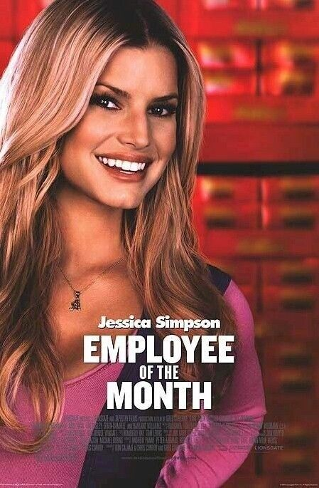 MOVIE POSTER ~ JESSICA SIMPSON EMPLOYEE OF MONTH SMILE