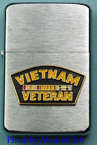 VIETNAM WAR VETERAN WIND PROOF PREMIUM LIGHTER IN A GIFT BOX SBC055 MBC