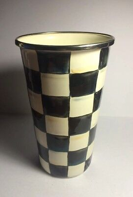 MacKenzie-Childs Courtly Check Enamel Tumbler - 20 Oz - New! Free Shipping!