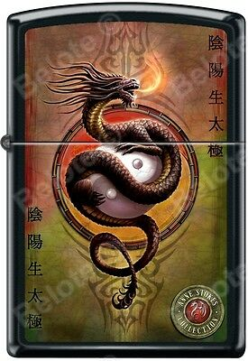 Zippo Anne Stokes Collection Dragon Black Matte Windproof Lighter RARE