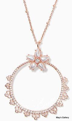 Kate Spade Handbag Necklace Pendant Rose Gold Dust Bag KSNY  chantilly charm