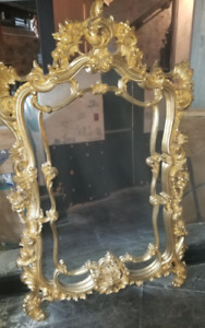 Vintage Antique Heavy Gold Solid Mirrors