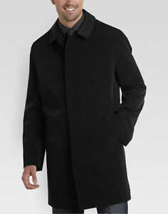 Joseph Abboud Black Classic Fit Rain Coat